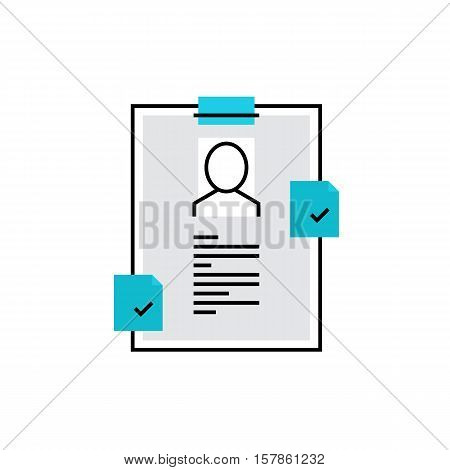 Cv Document Monoflat Icon.