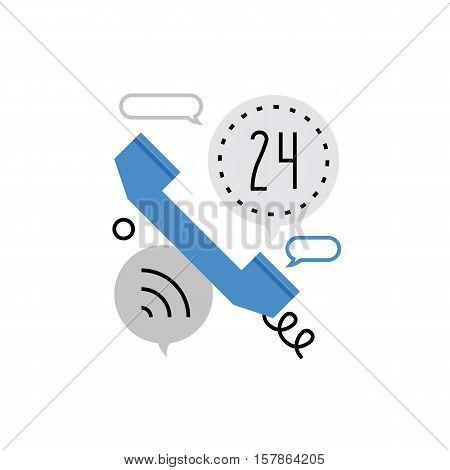 Phone Call Monoflat Icon.