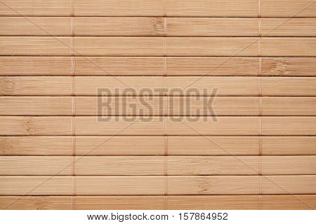 Bamboo napkin background, top horisontal view, copy space