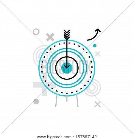 Aim Targeting Monoflat Icon.