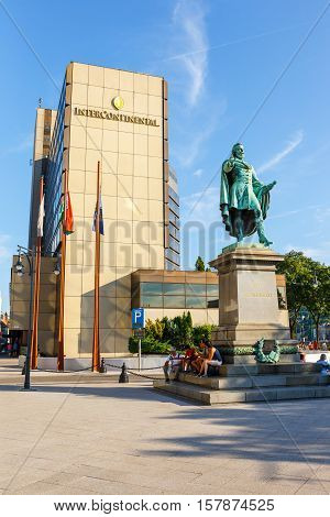 Budapest, Hungary - 23 July 2014: View On City Center Of Budapest In Hungary In Sunny Day. Budapest