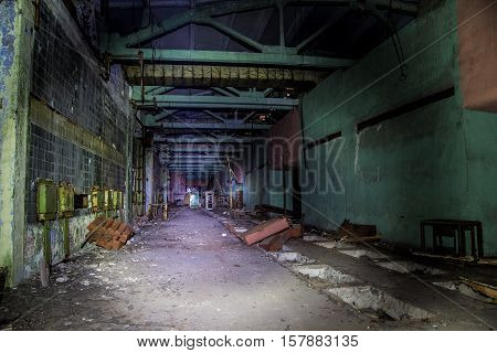 Abandoned ruins of Voronezh factory of radio components