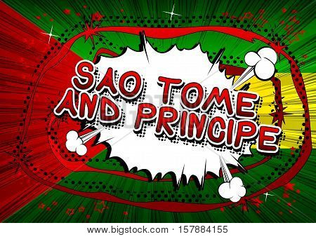 Sao Tome and Principe - Comic book style text.