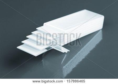 glass microscope slides. Toned Image