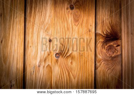 Old rustic brown wooden boards with vignette for texture or background