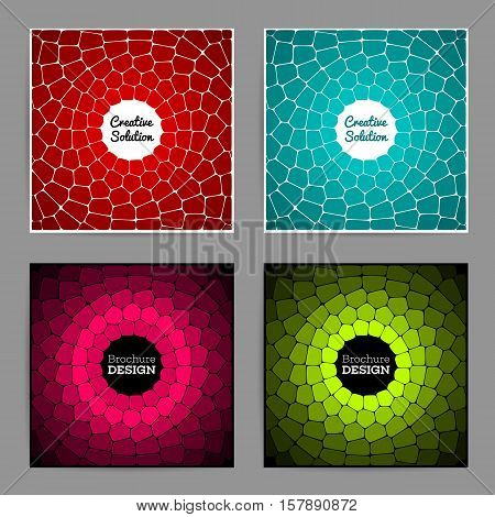 Abstract circular voronoi texture. Abstract vitrage. Annual report brochure design template vector. Leaflet cover presentation abstract geometric background. Posters flyers and banner designs. eps 10