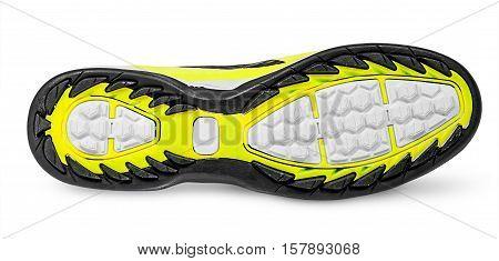 Rippled shoe sole isolated on white background