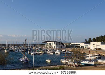 fishing port of L'Escala Costa Brava Girona province Catalonia Spain