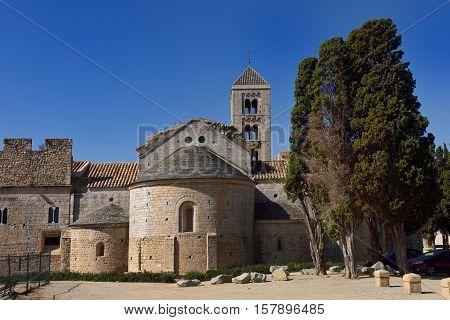 Romanesque monastery of Santa Maria de Vilabertran Alt Emporda Girona province Spain