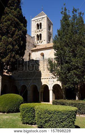 Romanesque monastery of Santa Maria de Vilabertran (from cloister) Alt Emporda Girona province Spain