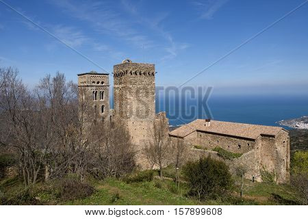 Benedictine monastery of Sant Pere de Rodes Girona province Catalonia Spain