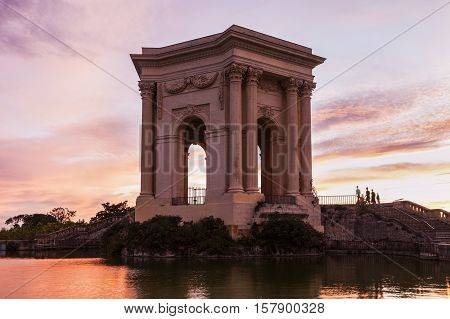 Pavillon du Peyrou in Montpellier. Montpellier Occitanie France.