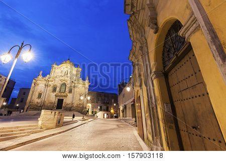 San Francesco d'Assisi Church in Matera. Matera Basilicata Italy