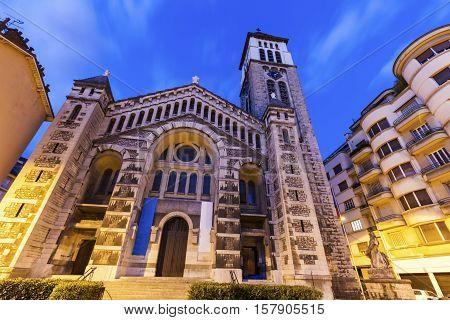 Saint Joseph Church in Grenoble. Grenoble Auvergne-Rhone-Alpes France