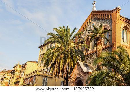 Old town of Menton. Menton Provence-Alpes-Cote d'Azur France