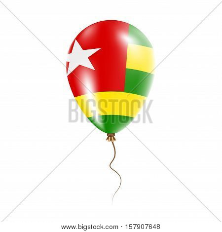 Togo Balloon With Flag. Bright Air Ballon In The Country National Colors. Country Flag Rubber Balloo