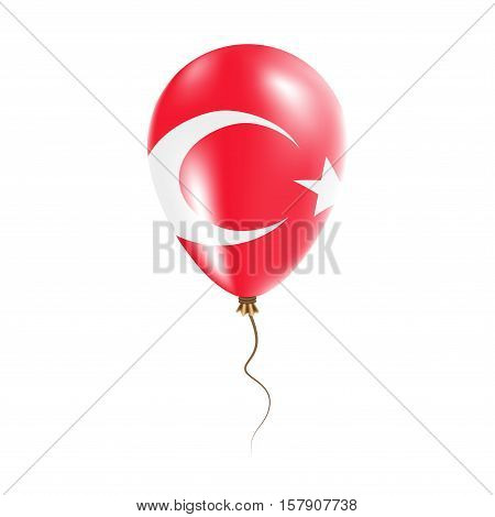 Turkey Balloon With Flag. Bright Air Ballon In The Country National Colors. Country Flag Rubber Ball
