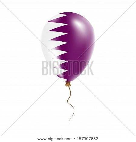 Qatar Balloon With Flag. Bright Air Ballon In The Country National Colors. Country Flag Rubber Ballo