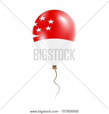 Singapore Balloon With Flag. Bright Air Ballon In The Country National Colors. Country Flag Rubber B