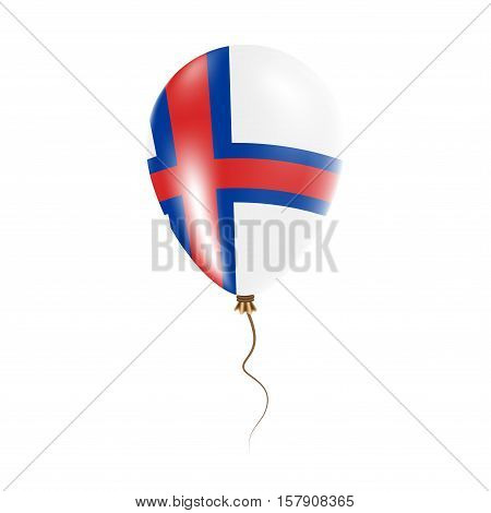 Faroe Islands Balloon With Flag. Bright Air Ballon In The Country National Colors. Country Flag Rubb
