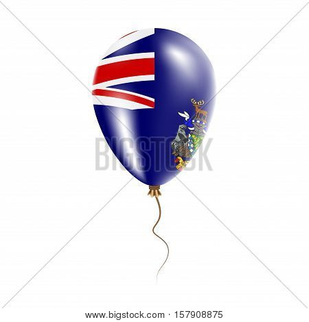 South Georgia And The South Sandwich Islands Balloon With Flag. Bright Air Ballon In The Country Nat