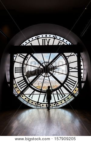 The Giant Clock Of The Musee Dorsay In Paris