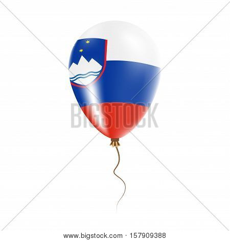 Slovenia Balloon With Flag. Bright Air Ballon In The Country National Colors. Country Flag Rubber Ba