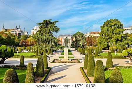 The Parterre garden in the Buen Retiro Park - Madrid, Spain