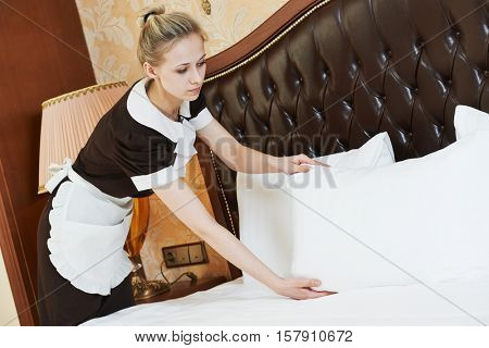 chambermaid woman at hotel service