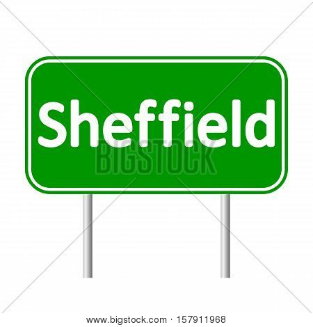 Sheffield road sign isolated on white background.