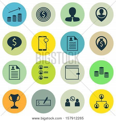 Set Of Human Resources Icons On Female Application, Curriculum Vitae And Tree Structure Topics. Edit