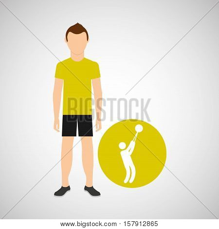 athlete man hammer throw sport graphic vector illustration eps 10