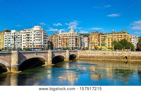 Cityscape of San Sebastian or Donostia - Spain, the Basque Country