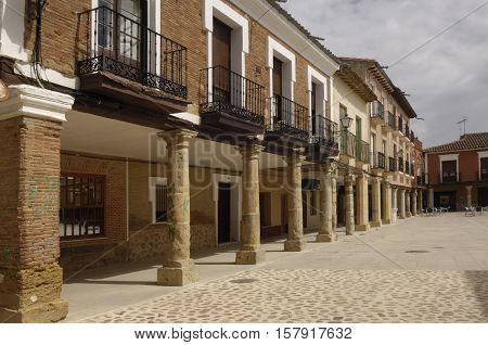 Main square of Villalpando Zamora province Castilla y LeónSpain