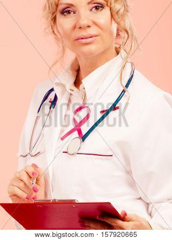 Woman Doctor Diagnose Patient