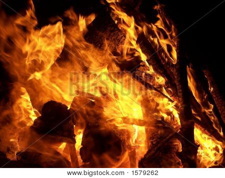 Closeup Bonfire
