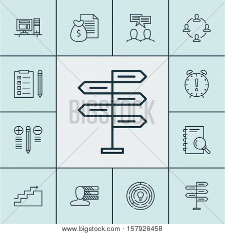 Set Of Project Management Icons On Growth, Innovation And Opportunity Topics. Editable Vector Illust