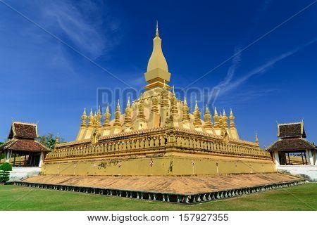Pha That Luang Vientiane Landmarks of Vientiane Laos.