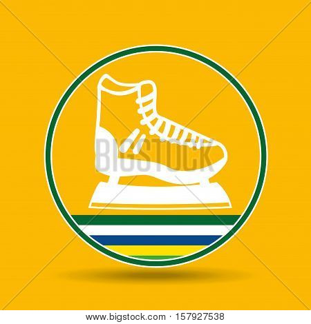 ice skater sport badge icon vector illustration eps 10