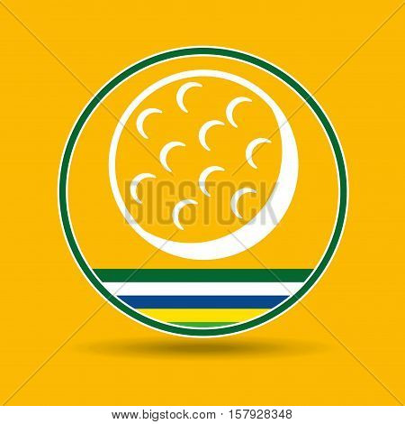 golf ball sport badge icon vector illustration eps 10