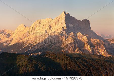 Morning view of Mount Civetta - one of the best mouts in Italien Dolomites Alps mountains