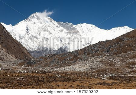 Mount Cho Oyu - way to Cho Oyu base camp - Everest area Sagarmatha national park Khumbu valley Nepal
