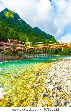 Kamikochi Low Angle Kappa Bridge Azusa Mountains V