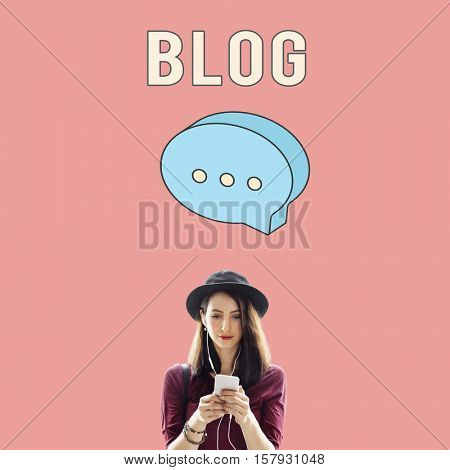 Blog Online Social Network Concept