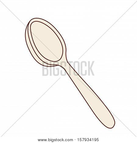 Spoon icon. Cutlery dishware food restaurant and meal theme. Isolated design. Vector illustration