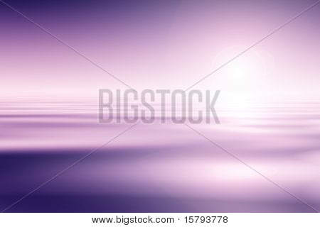 Beautiful Pink Water And Sky Background