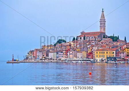 Town of Rovinj ancient architecture and waterfront Istria Croatia