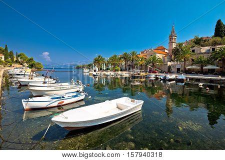 Splitska village on Brac island waterfront view Dalmatia Croatia