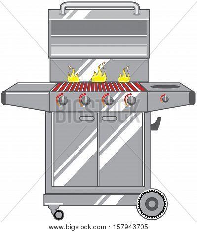 Super Grill vector illustration clip-art image eps file