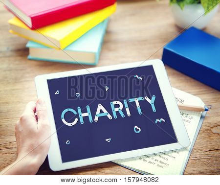 Charity Volunteer Helping Nonprofit Concept